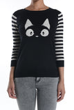 black cat sweater