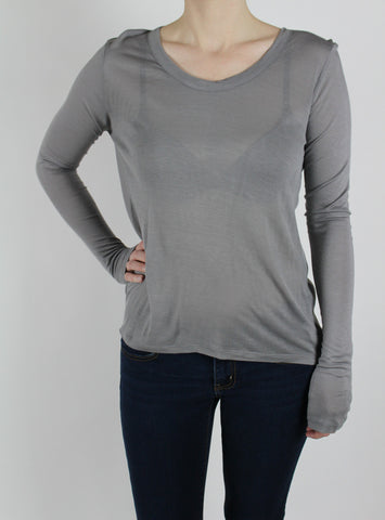 grey mary jane t strap top