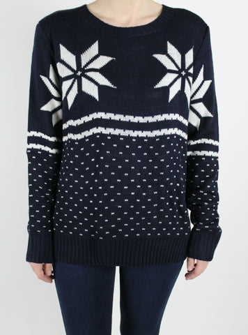 blue snowflake christmas sweater