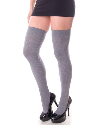 grey thigh highs