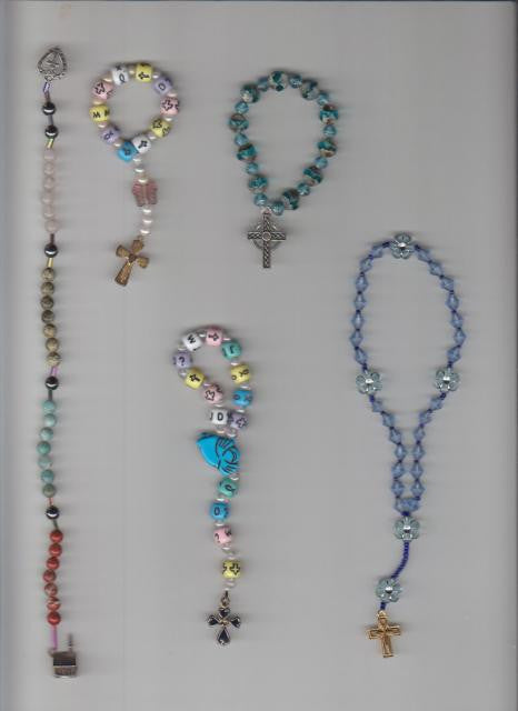 Earth-Style Anglican Prayer Rope pictured at far left