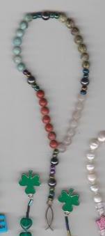 Earth Rosary with Jesus Fish featuring gemstones