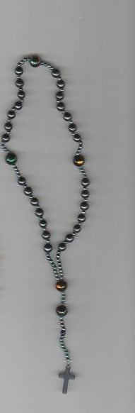 Hematite Anglican Rosary design prayer beads