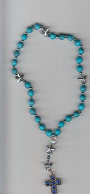 Turquiose Anglican Rosary with Acrylic Stars