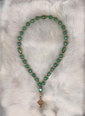Sea Green Prayer Beads