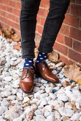 spot socks, rock my socks, navy and white spot socks, colourful socks, cool socks