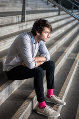 Pink Cross Mens Designer Socks