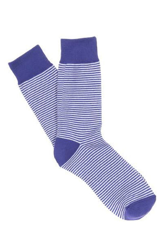 Purple & White Striped Socks