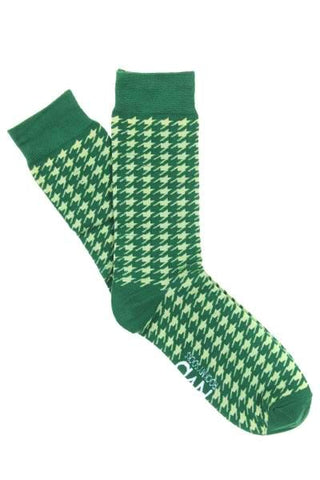 Green Houndstooth Socks
