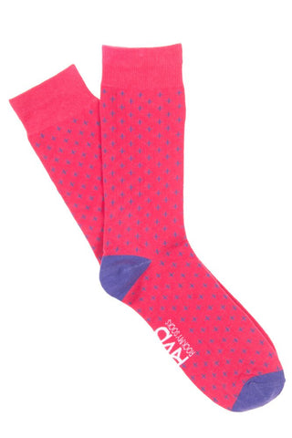 Pink & Purple Cross Socks