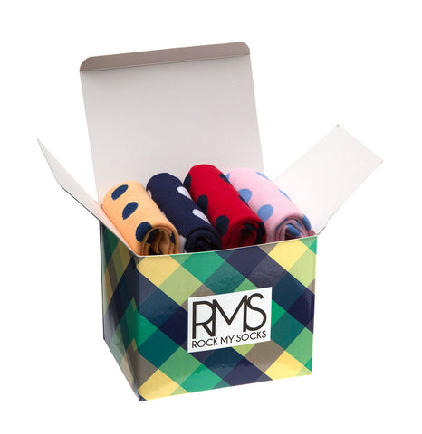Mens Gift Box of Spot Socks