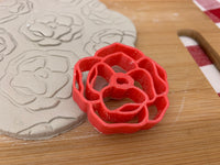 Pottery Stamp, Peony flower design, Fondant, Cookie Dough, Clay, Leather, Pottery Tool, plastic 3d printed, multiple sizes available