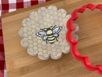 Pottery Stamp, Bee 1 design, Fondant, Cookie Dough, leather, Clay, Pottery Tool, plastic 3d printed, multiple sizes available