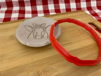 "Cookie / Clay Cutter, fluted plate Circle, Fondant, Clay, Pottery Tool choose size up to 16"" diameter, extra large cutters, 7 side design"