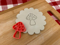 Pottery Stamp, mushroom design, Fondant, Cookie Dough, Clay, Leather, Pottery Tool, plastic 3d printed, multiple sizes available
