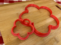 "Cookie / Clay Cutter, Flower 2, 5 petal design, Fondant, Clay, Pottery Tool choose size up to 11"" diameter, extra large cutters, 6 petal design"