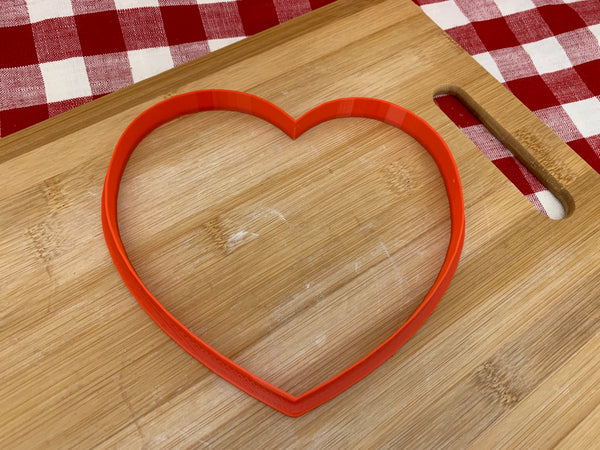 "Cookie / Clay Cutter, heart, Fondant, Clay, Pottery Tool choose size up to 11"" wide, extra large cutters, heart1"
