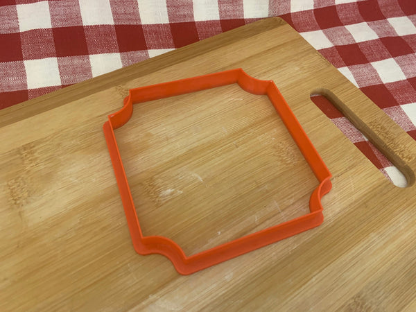 Cookie Clay Cutter, Plaque design, Fondant, Clay, Pottery Tool, choose size square or rectangle, large cutters