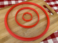 "Cookie / Clay Cutter, plain Circle, Fondant, Clay, Pottery Tool choose size up to 16"" diameter, extra large cutters, sturdy, won't warp, tall blade"