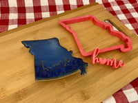 Pottery Stamp, HOME with heart word design, Fondant, Cookie Dough, leather, Clay, Pottery Tool, plastic 3d printed, multiple sizes available