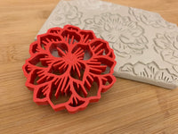 Pottery Stamp, Flower bunch design, Fondant, Cookie Dough, Clay, Leather, Pottery Tool, plastic 3d printed, multiple sizes available
