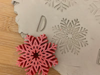 Pottery Stamp, Snowflake design, Each or Set, Fondant, Cookie Dough, Clay, Leather, Pottery Tool, plastic 3d printed