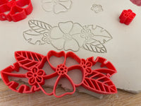 Pottery Stamp, Tropical flower bunch design, Fondant, Cookie Dough, Clay, Leather, Pottery Tool, multiple designs/sizes, Each or sets available