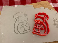 Pottery Stamp, Squirrel design, Fondant, Cookie Dough, leather, Clay, Pottery Tool, plastic 3d printed, multiple sizes available