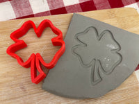 Pottery Stamp, St Patricks open Shamrock design, Fondant, Cookie Dough, Clay, Leather, Pottery Tool, plastic 3d printed