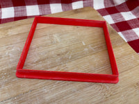 "Cookie / Clay Cutter, plain Rectangle, Fondant, Clay, Pottery Tool, sizes up to 16"", contact for custom sizes to be added, extra large cutters, sturdy, won't warp"