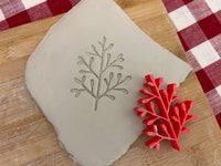 Pottery Stamp, Greenery2 branch design, Fondant, Cookie Dough, Clay, Leather, Pottery Tool, plastic 3d printed, multiple sizes