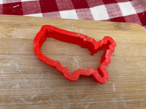 "Cookie / Clay Cutter, Any State outline or lower 48 USA, Fondant, Clay, Pottery Tool choose size up to 16"" wide, extra large cutters"