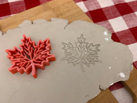 Pottery Stamp, Fall Leaf design, Leaves, Fondant, Cookie Dough, leather, Clay, Pottery Tool, plastic 3d printed, multiple sizes available