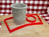 Cookie / Clay Cutter, Cup / Mug template design, Clay, Hand building Pottery Tool, slab building