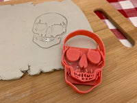 Pottery Stamp, Halloween Skull design, Fondant, Clay, Leather, Pottery Tool, plastic 3d printed, multiple sizes available
