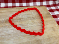 "Cookie / Clay Cutter, Scalloped Spherical Triangle, Fondant, Clay, Pottery Tool, choose size up to 14"", large cutters"