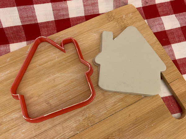 Cookie / Clay Cutter, Christmas Ornament House design, Fondant, Clay, Pottery Tool, multiple sizes available