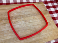"Cookie / Clay Cutter, plain Spherical Square, Fondant, Clay, Pottery Tool choose size up to 13"" wide, extra large cutters, sturdy, won't warp, tall blade"