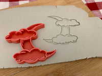 Pottery Stamp, Halloween Moon and Clouds design, Fondant, Clay, Leather, Pottery Tool, plastic 3d printed, multiple sizes available