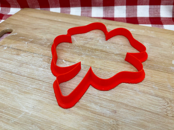 "Cookie / Clay Cutter, Shamrock design, Clover, St. Patrick's Day, Fondant, Clay, Pottery Tool choose size up to 11"" tall, extra large cutters"