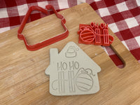 "Pottery Stamp, Christmas casual ""Ho Ho Ho"" saying design, Fondant, Cookie Dough, Clay, Leather, Pottery Tool, plastic 3d printed"
