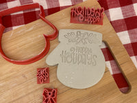 Cookie / Clay Cutter, Christmas Ornament Mitten design, Fondant, Clay, Pottery Tool, multiple sizes available