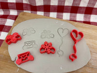 Pottery Stamp, Gnome hands extras, Valentine / Winter designs, Cookie Dough, Clay, Pottery Tool, plastic 3d printed, each or set