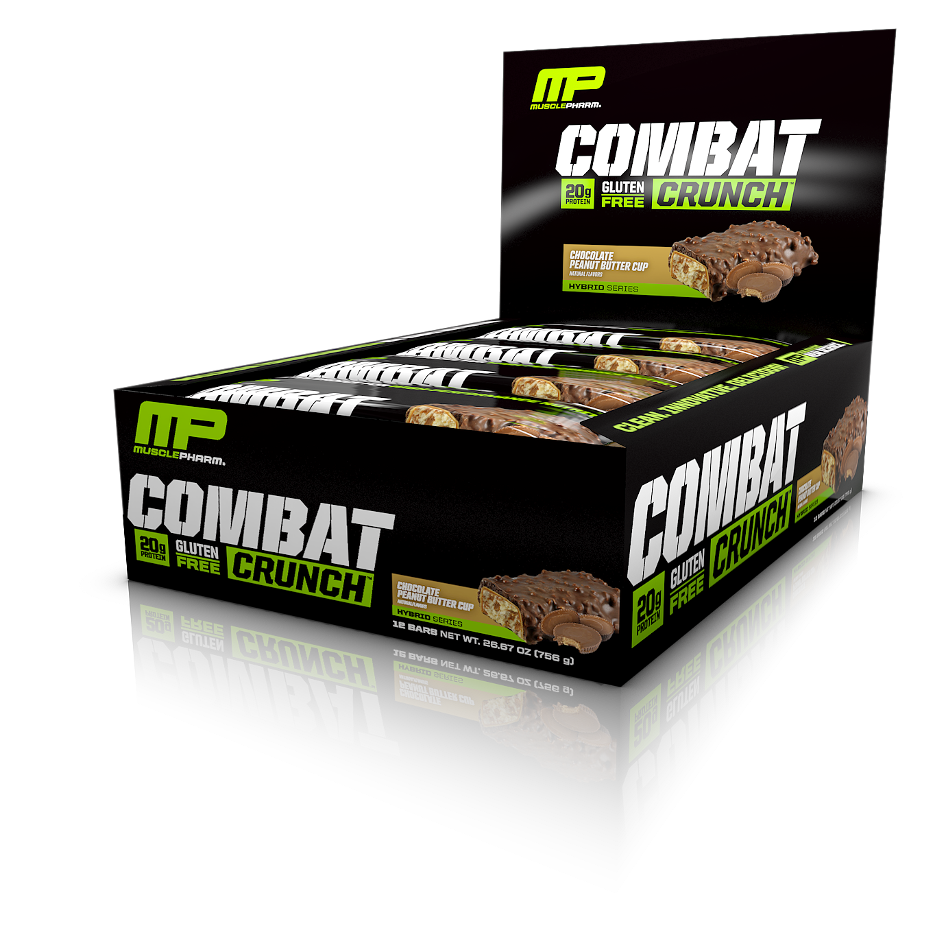 MUSCLEPHARM COMBAT CRUNCH PROTEIN BARS 12PK