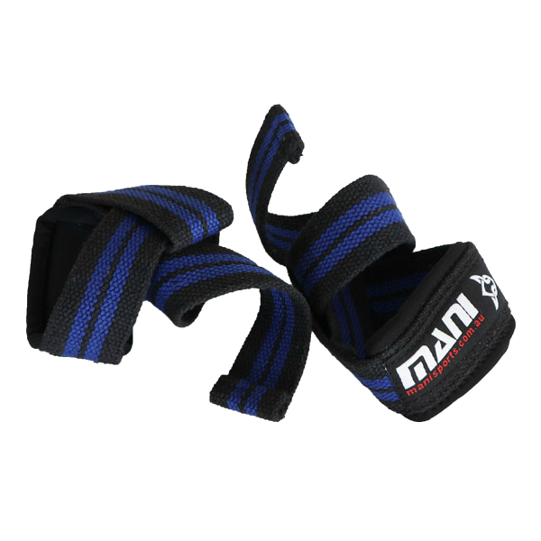 MANI SPORTS ICS BRANDED 50MM LIFTING STRAPS WITH PADDING