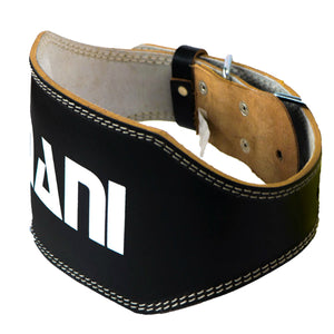 "MANI SPORTS LEATHER 6"" WEIGHTLIFTING BELT"