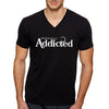OFFICIALLY ADDICTED MEN'S V-NECK | BLACK