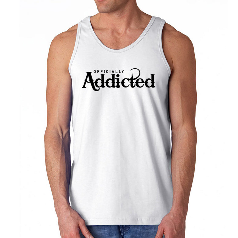 OFFICIALLY ADDICTED MEN'S TANK | WHITE