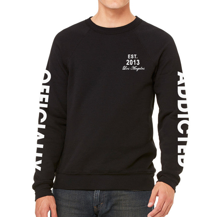OFFICIALLY ADDICTED MEN'S SWEATSHIRT | BLACK