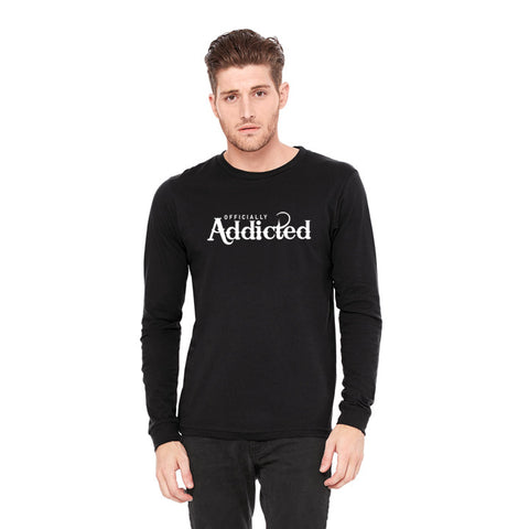 OFFICIALLY ADDICTED MEN'S L/S TEE | WHITE